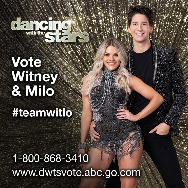 Vote for Witney & Milo 1-800-868-3410